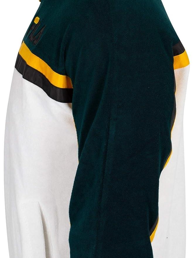 Fila Vintage Hombre Ethan Terry Toweling Chaqueta de chándal, Blanco: Amazon.es: Ropa y accesorios