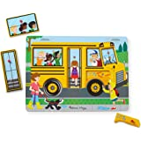 Melissa & Doug The Wheels On The Bus Sound Puzzle jigsaw puzzles, 1 count, Multicolour, 6 Piece