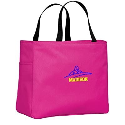 Personalized Embroidered Swim Sport Essential Tote Bag (Tropical Pink)