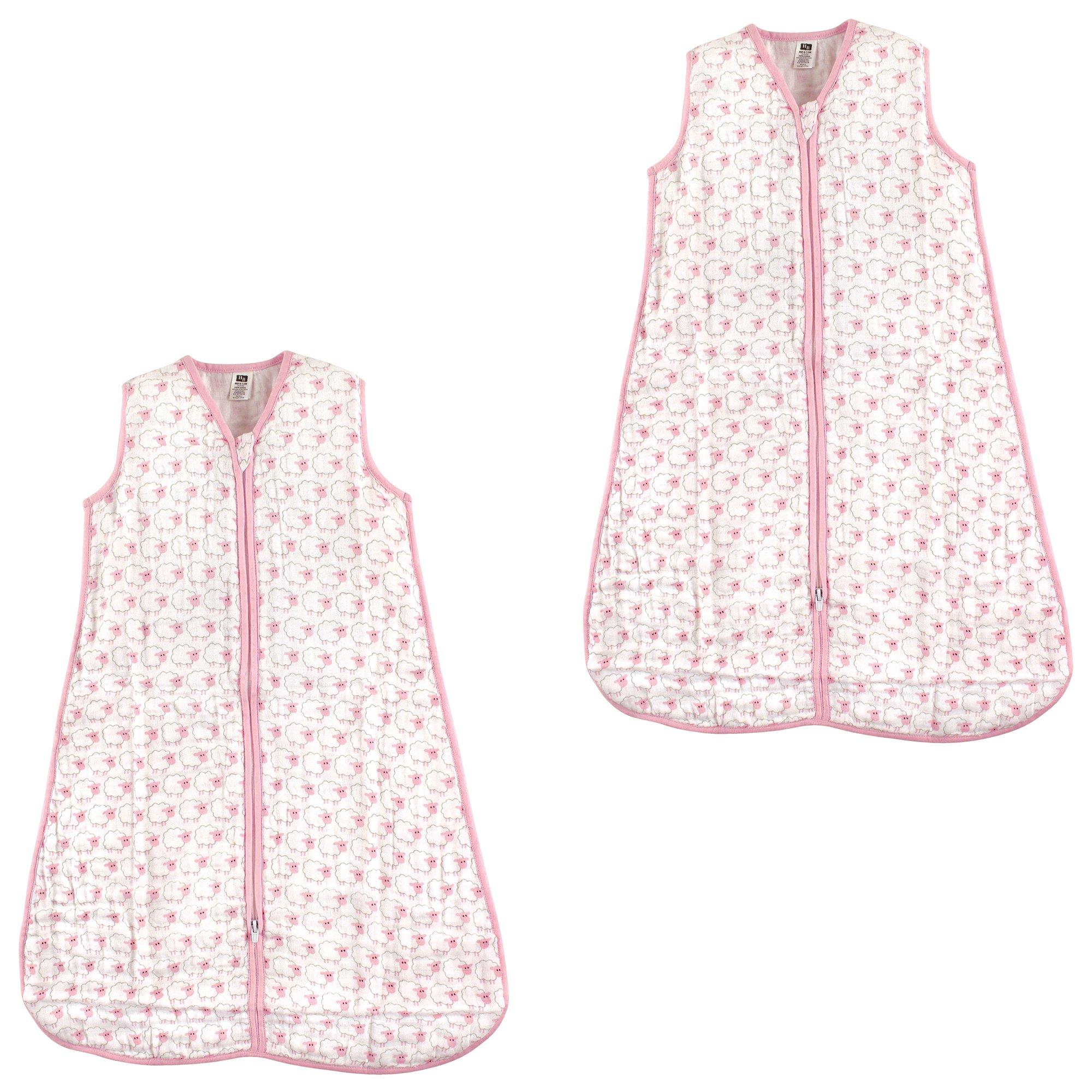 Hudson Baby Wearable Safe Muslin Sleeping Bag, Sheep Pack, 12-18 Months