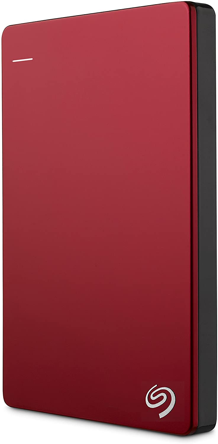 Seagate Backup Plus Slim 1TB External Hard Drive Portable HDD – Red USB 3.0 for PC Laptop and Mac, 2 Months Adobe CC Photography (STDR1000103)