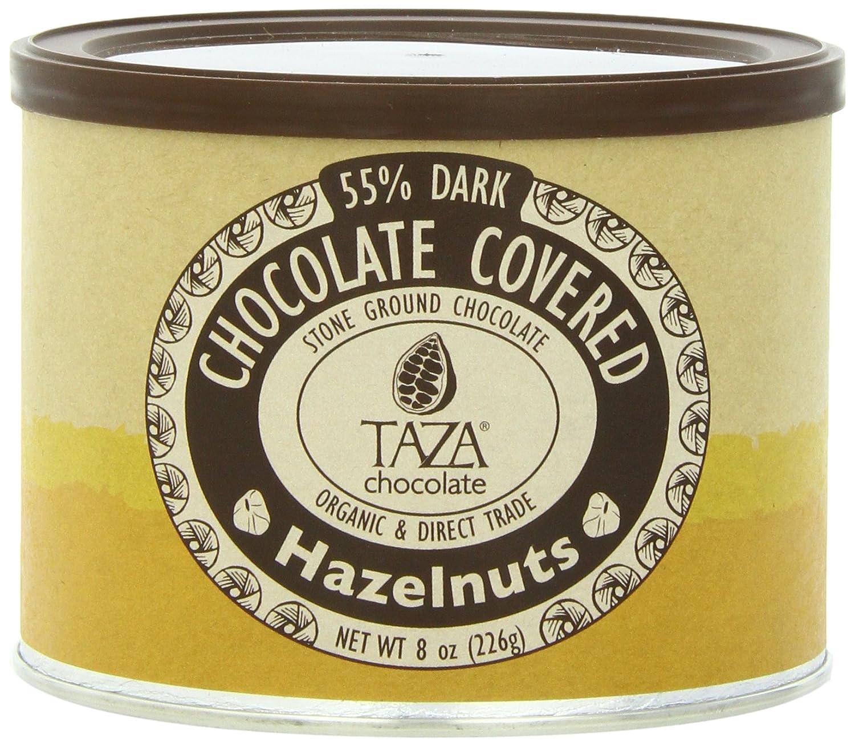 Amazon.com : Taza Chocolate Chocolate Covered Hazelnuts, 8 Ounce ...