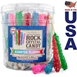 Boone's Mill | Rock Crystal Candy Sticks | Assorted Flavors | 36 Count