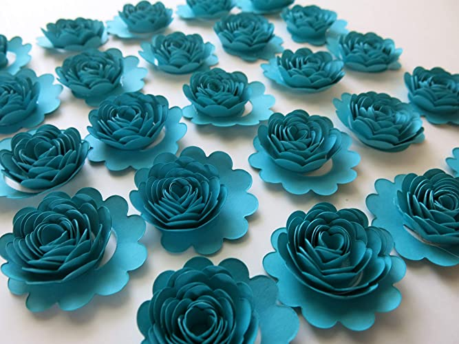 Amazon Set Of 24 Dark Teal Blue Carnations 15 Turquoise