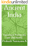 Ancient India: Important Points (As per Old Ncert)