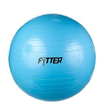 FYTTER Agb65B Balón de Yoga de 65 cm, Unisex Adulto, Azul: Amazon ...