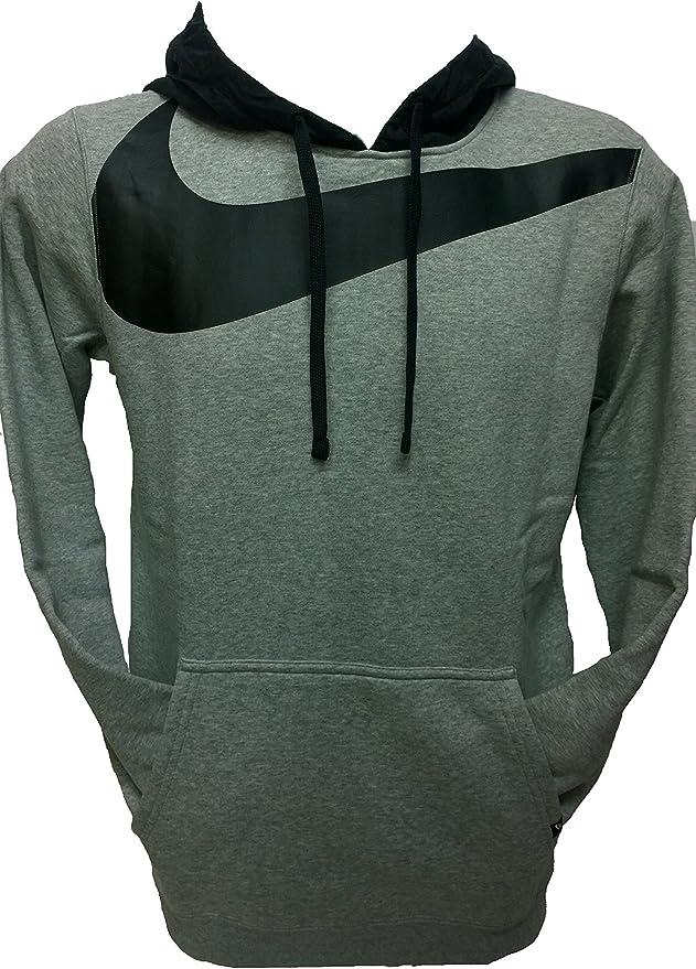 Nike Sudaderas Hombre Hoodie FLC Grey 861714 Capucha algodón ...
