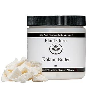 Raw Kokum Butter 8 oz. 100% Pure Natural Cold Pressed (HDPE Food Grade Jar)