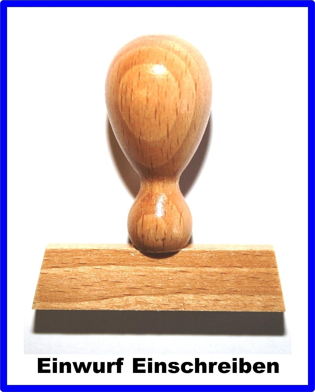 Einwurf Einschreiben LE-ONs® Holzstempel Professional-Serie L59