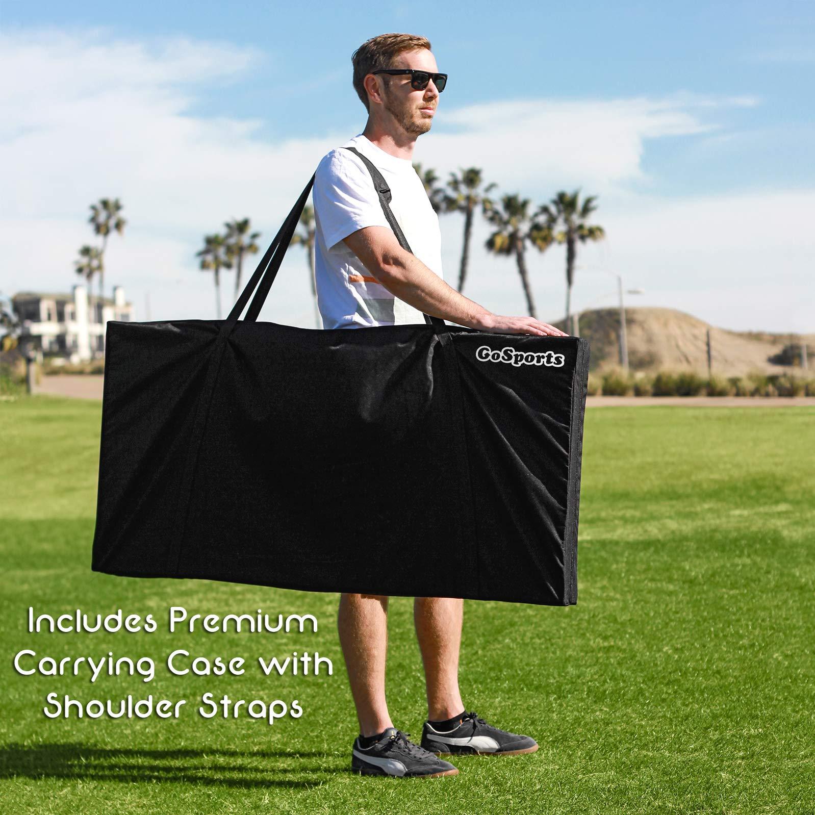 GoSports Bamboo Regulation Size Bamboo Cornhole Set   Includes 8 Bean Bags & Carrying Case by GoSports (Image #7)