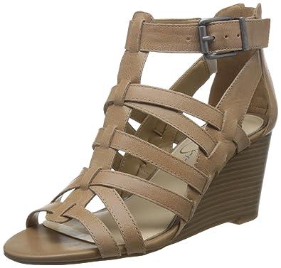 Jessica Simpson Women's Cloe Wedge Sandal, Buff, 10 Medium US