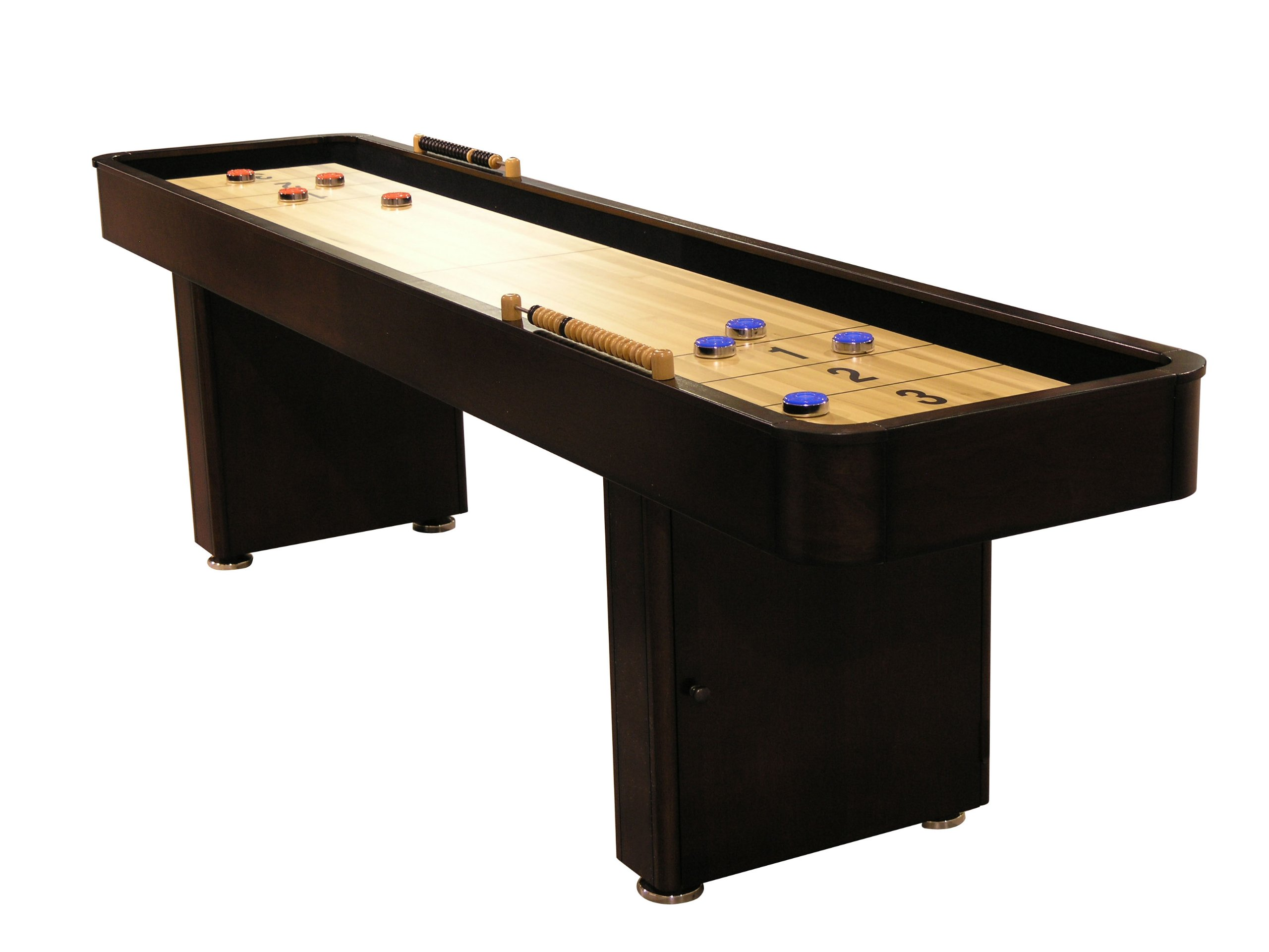 Fairview Game Rooms 9 Foot Shuffleboard Table with Hidden Storage Cabinet - Mahogany by Fairview Game Rooms