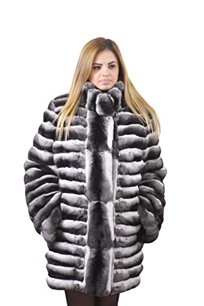 c728cd23119 Chinchilla Fur Coat Hooded Handmade Saga Purple Quality шиншилла шуба  (xsmall)