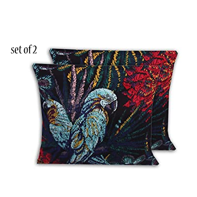 Comfort Classics Inc. Outdoor/Indoor Patio Throw Pillow (Set of 2) in Spun Polyester Parrot 15x15x5 : Garden & Outdoor