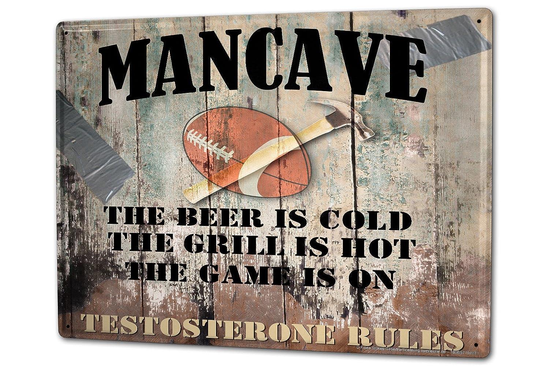Plaque Émaillée Règles de barbecue Man Cave Rugby bière Publicité Signes En Métal 20X30 cm leotie fashion&lifestyle