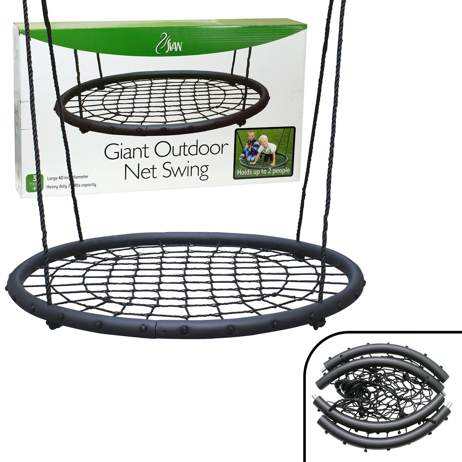 Amazoncom Tree Net Swing Giant 40 Wide Two Person Outdoor