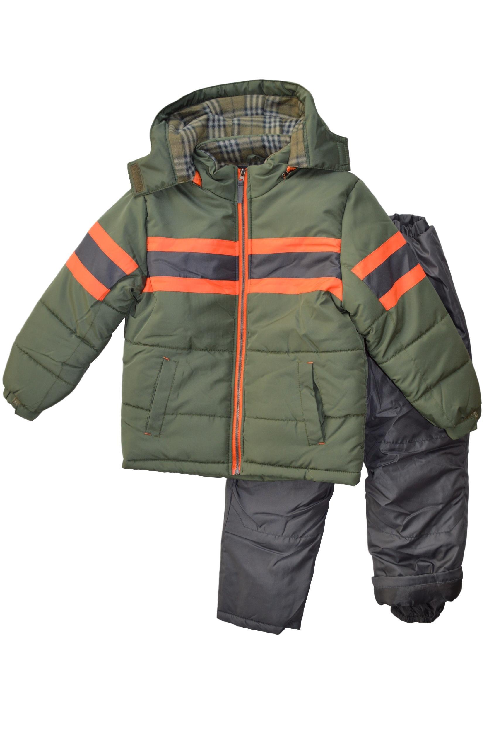 Snowsuits for Kids Boy's 3-Piece Active Snowsuit (10-12, Recon Green)