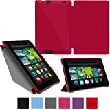 """rooCASE Amazon Kindle Fire HD 7 Case  Origami Slim Shell 7-Inch 7"""" Cover - RED"""
