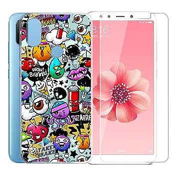 JIENI Funda para Xiaomi Redmi S2 Cover, Transparente TPU Suave ...