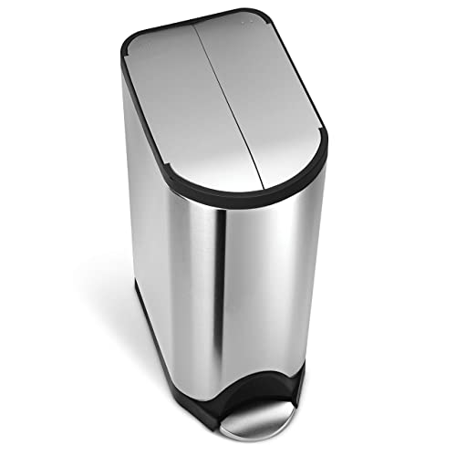 Simplehuman 30 Liter / 8 Gallon Butterfly Lid Kitchen Step Trash Can