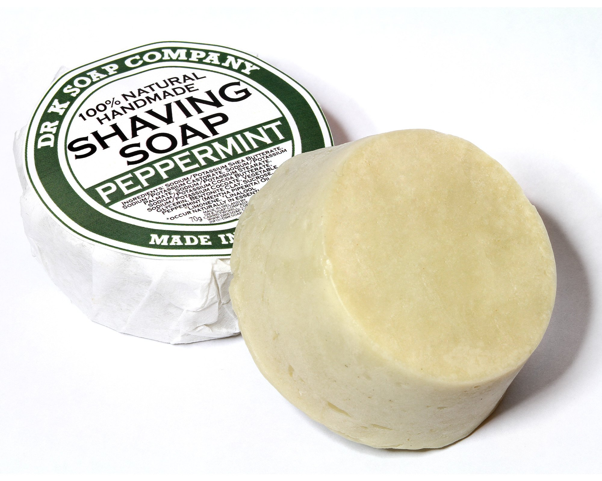Shaving Soap Peppermint by Dr K Soap