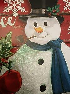 Christmas Snowman Metal Plate Tin Sign Vintage Retro Wall Bar Chic Decor Wall Decor Gift 12x8 inch (Sing-04)
