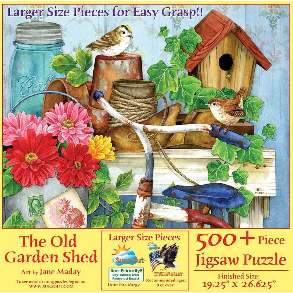SUNSOUT INC The Old Garden Shed 500 pc Jigsaw Puzzle