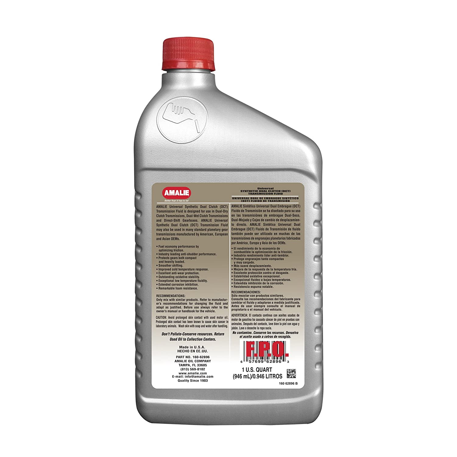 Amazon.com: Amalie Universal Synthetic Dual Clutch (DCT) Transmission Fluid: Automotive