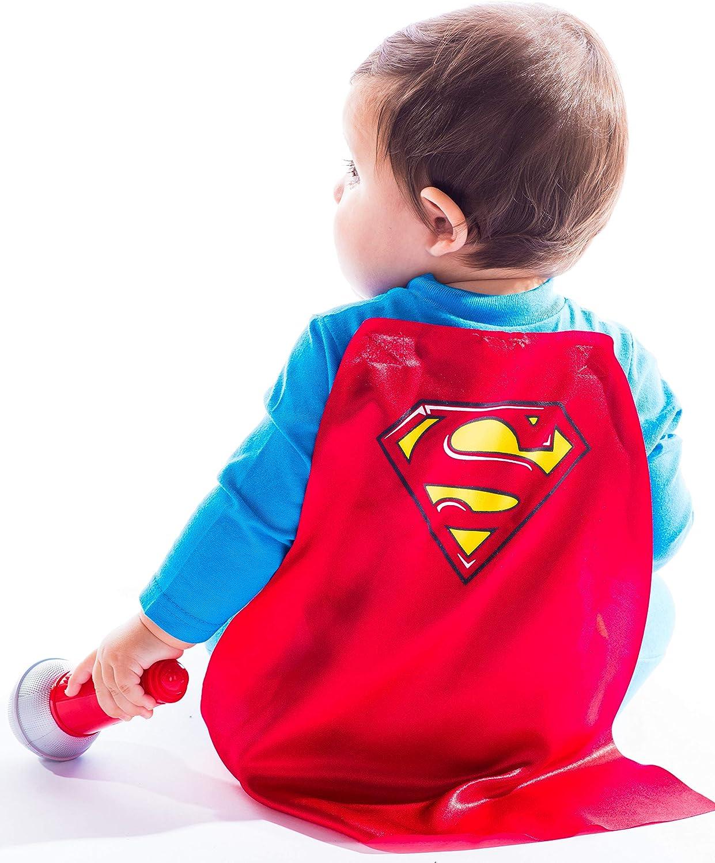 Batman /& Superman Baby Boys Costume Coveralls with Cape Warner Bros