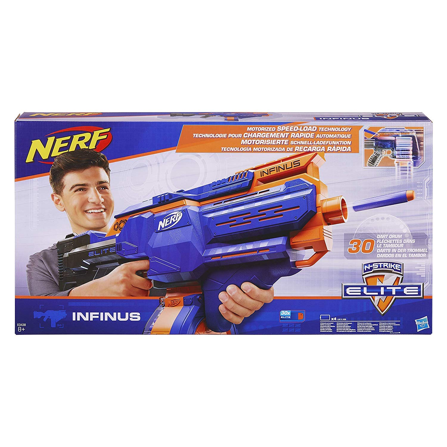 NERF Infinus N-Strike Elite Toy Motorized Blaster with Speed-Load Technology (FFP) by NERF (Image #1)