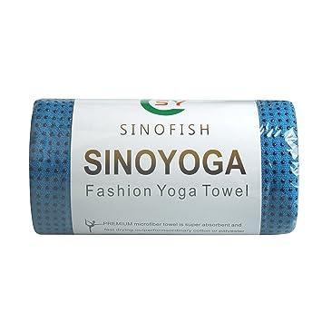 Sino Yoga Deporte Fitness Viaje Entrenamiento Yoga Estera Protectora Toalla Manta Antideslizante, Silicone Beads-Blue: Amazon.es: Deportes y aire libre