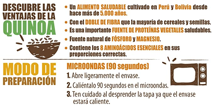 Brillante Benefit 3 Arroces Quinoa Verduras 200G - [Pack De 16] - Total 3200 Gr: Amazon.es: Alimentación y bebidas