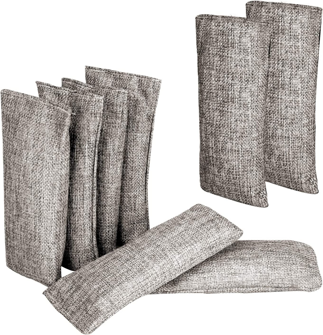 ANYI16 Natural Air Purifying Bags,150g Each Pair Mini Bamboo Charcoal Bags,Shoe Deodorizer and Odor Eliminator (8PACK x 75g)