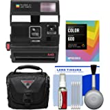 Impossible Polaroid 600 Square Instant Film Camera with Color Film Pack + Case + Kit (Certified Refurbished)