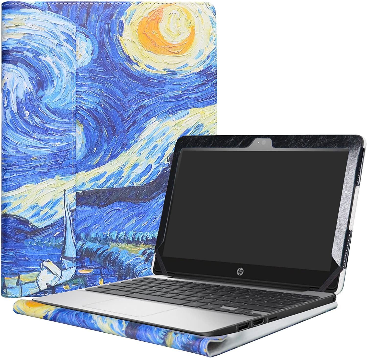"Alapmk Protective Case Cover for 11.6"" HP Chromebook 11 G5 EE/G4/G3/G2/G4 EE/11-2000 Series Laptop(Warning:Not fit HP Chromebook 11 G6 EE/G5/G1/11-v000/11-1100 Series),Starry Night"