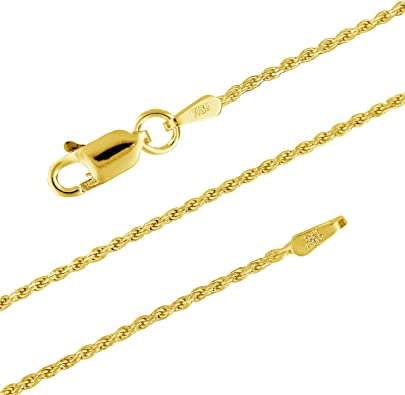 9 in 14 kt Yellow Gold 14k 1mm Solid Diamond-Cut Spiga Chain Length