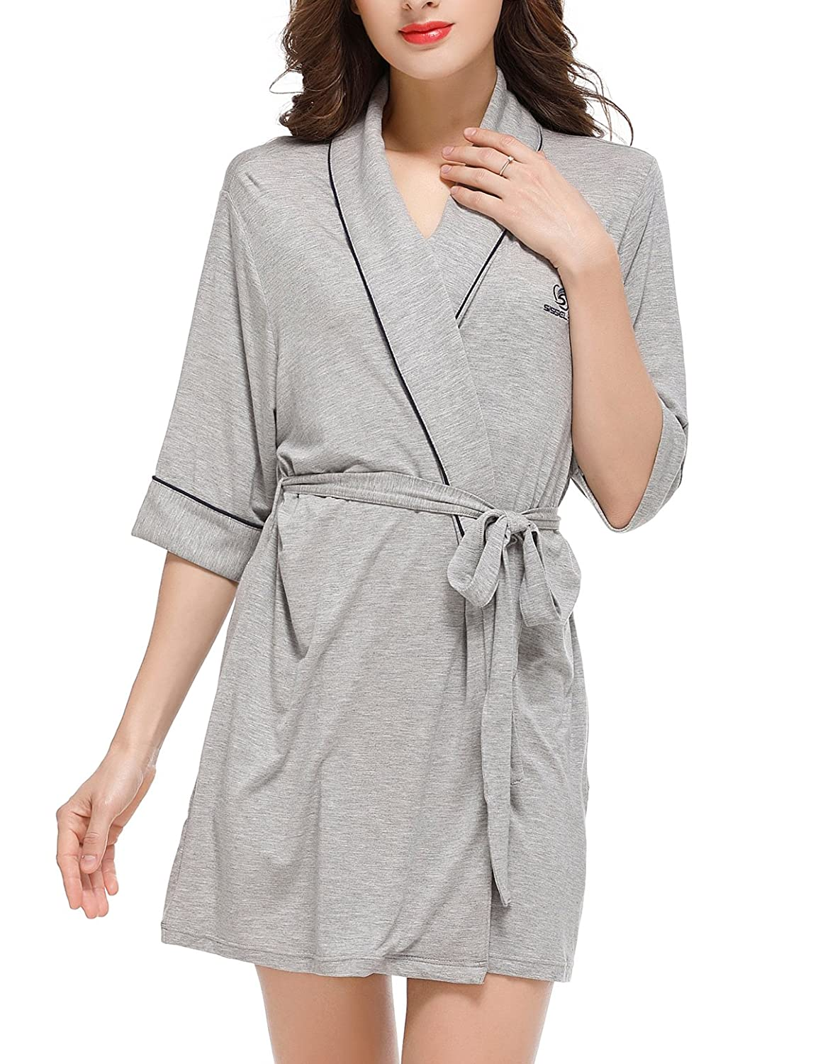 Sissely Robes for Women Women's Bathrobe Night-Robe Sleepwear Pajama XS-XL