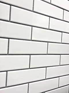 3x6 Subway White Crackled Ceramic Subway Tile Backsplash Amazoncom