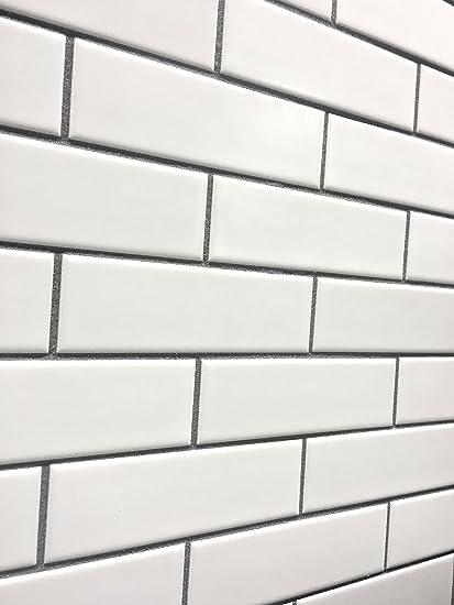 2x6 Matte Finish White Brick Ceramic Mosaic Tile Walls And Floors