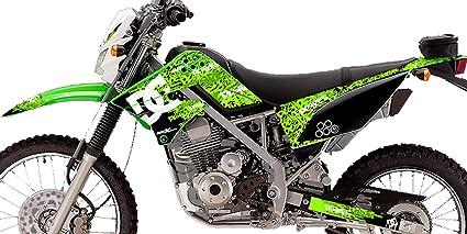 Kawasaki KLX 150 Custom Sticker Graphic Decals Kits Dc Shoes Green
