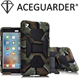 iPad Mini 2 Case, ACEGUARDER Full Body Protective Cover with Built-in Screen Protector & Adjustable Kickstand for iPad Mini 1 2 3 (Army/Black)