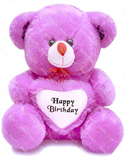 8758198735b Buy Richy Toys Teddy Bear Birthday Soft Toy For Kids - 50 Cm (Purple)  Online at Low Prices in India - Amazon.in