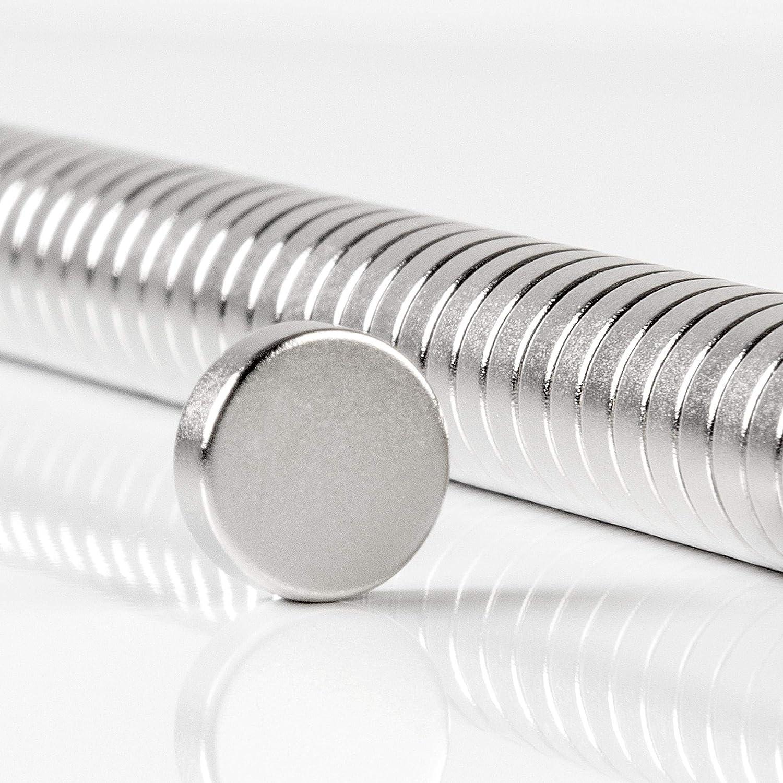 Disques magn/étiques de Haute qualit/é 10x2mm 22010203 ECENCE Aimants en n/éodyme 50 Mini-aimants Ronds Aimants permanents N35
