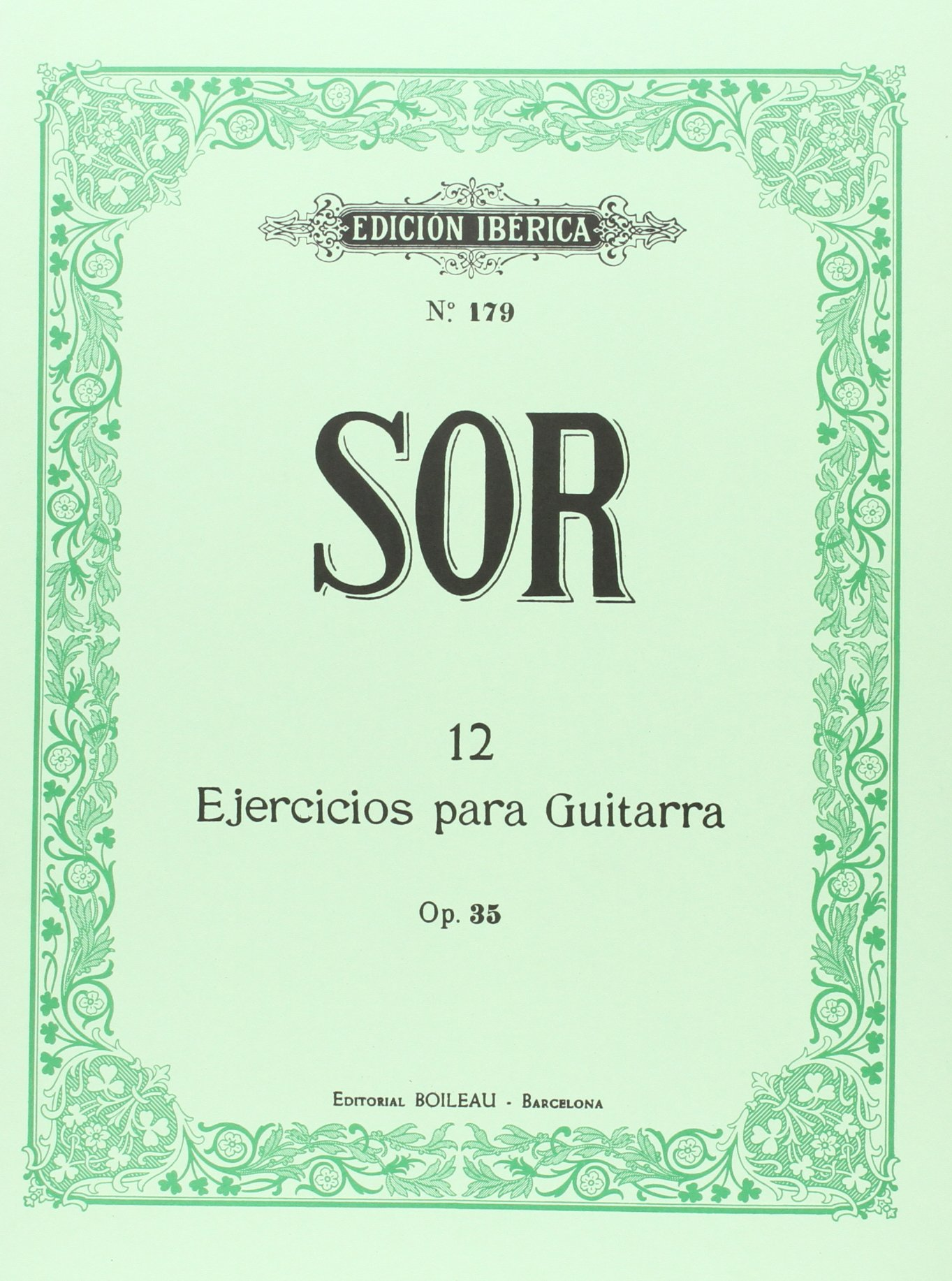 Ejercicios Guitarra Op.35: Amazon.es: Fernando Sor, Gracià Tarragó ...