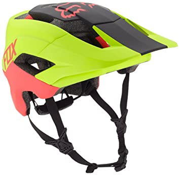 Fox Hombre metah Graphic – Casco para Bicicleta, Hombre, Color FLO Yellow, tamaño