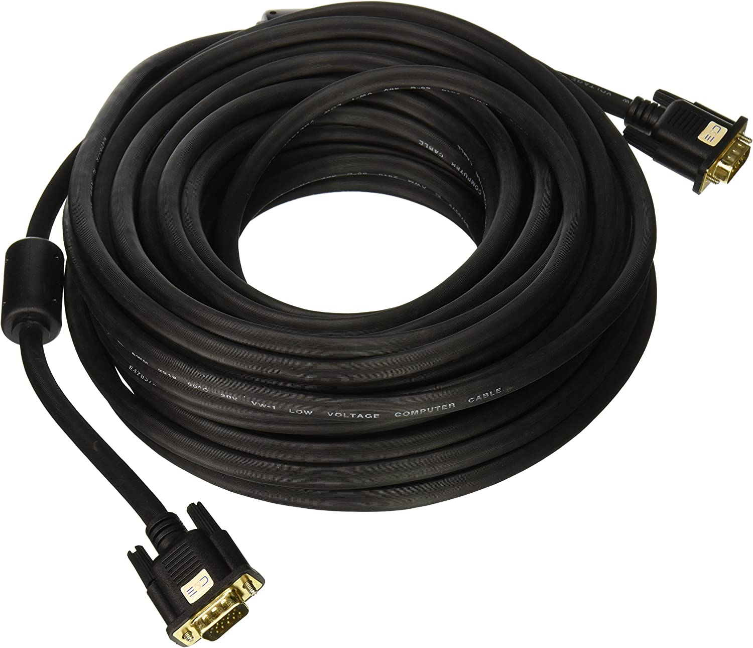 10ft//3m Projector Cable VGA//SVGA HD15 Male to Male Video Coaxial Monitor Cable with Ferrite Cores Gold Plated Compatible for Projectors Displays HDTVs