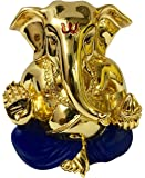RK Fashion Gold Plated Divine Lord Ganesh Idol -(4.5x4x3 cm) -Gold