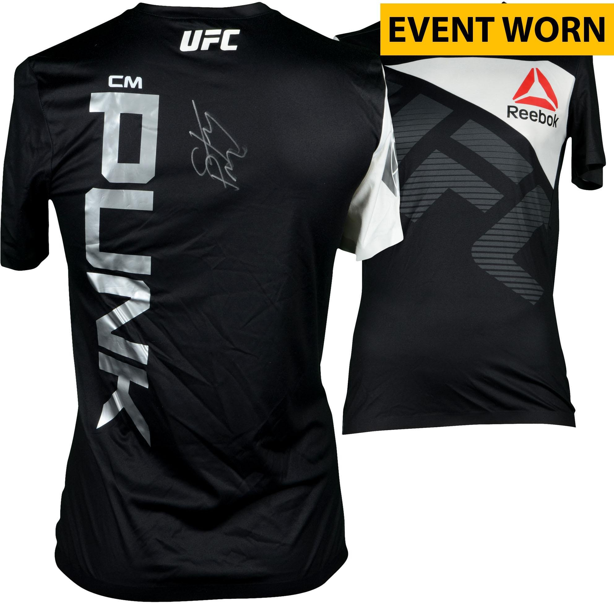 CM Punk Ultimate Fighting Championship Autographed UFC 203  Miocic vs.  Overeem Event-Worn Walkout Jersey – Fought Mickey Gall in a Welterweight  Bout ... 33086c0ff