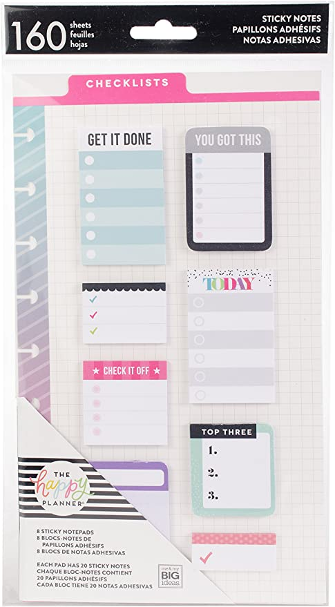 Me & My Big Ideas POST-19 Happy Planner Sticky Notes, Multicolor