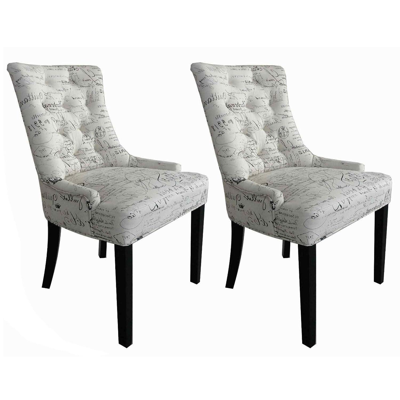 Esszimmerstühle esszimmerstühle 2er set cocktailsessel mit buchstabendesign stühle